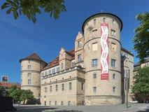 Gammal slott i Stuttgart, Tyskland Arkivfoto
