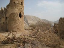 Gammal slott i sultanaten av Oman arkivbilder
