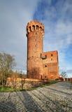 Gammal slott i Swiecie poland Arkivfoton