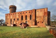 Gammal slott i Swiecie poland Arkivfoto
