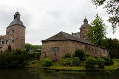 Gammal slott i Tyskland, utomhus- hystorical byggnad Royaltyfri Bild