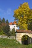 Gammal slott Ozalj i staden av Ozalj royaltyfri bild