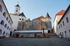 Gammal slott Palanok i Mukachevo ukraine Transcarpathia arkivbild