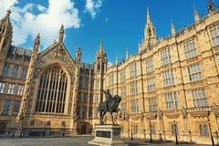 Gammal slottgård av slotten av Westminster i London Royaltyfria Bilder