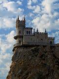 gammal slottklippa arkivbild