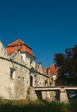 gammal slottport Arkivfoto