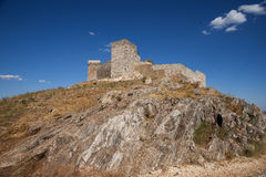 Gammal slottstad av Aracena i landskapet av Huelva, Andalusia Arkivbild