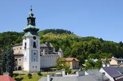 gammal slovakia för banskaslott stiavnica Royaltyfria Bilder