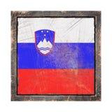 Gammal Slovenien flagga Royaltyfria Foton