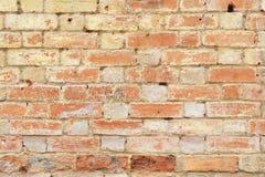 Gammal smula bakgrund för tegelstenvägg royaltyfria foton
