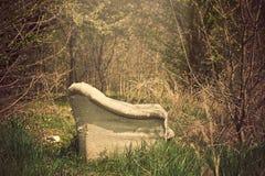 gammal sofa Fotografering för Bildbyråer