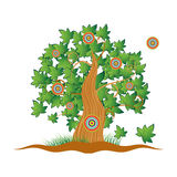 gammal sommartree för gräs stock illustrationer