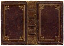 gammal songbook för läder 1890 Arkivfoton