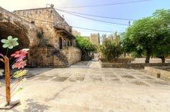 Gammal soukfyrkant, Byblos, Libanon Royaltyfria Foton