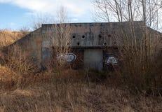 Gammal sovjetisk bunker Royaltyfria Bilder