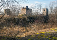 Gammal sovjetisk bunker Royaltyfri Foto