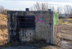 Gammal sovjetisk bunker Arkivfoto