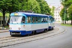 Gammal spårvagn Fotografering för Bildbyråer