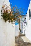 gammal spansk gatatown Fotografering för Bildbyråer