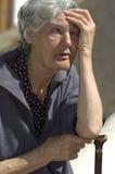 Gammal spansk kvinna Arkivbild