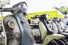gammal sparkcykel Arkivfoto