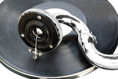 gammal spelare för antik grammofon Royaltyfri Bild