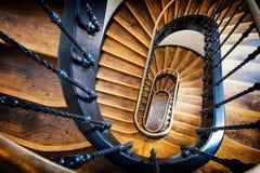 gammal spiral trappuppgång Royaltyfri Bild