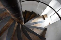 gammal spiral trappuppgång Royaltyfria Foton