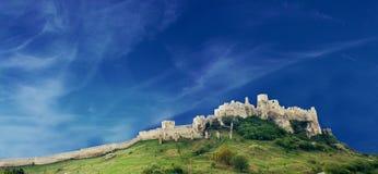 Gammal Spiss slott i Slovakien Royaltyfri Foto