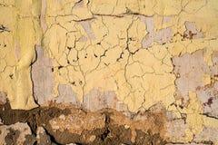 Gammal sprucken cementvägg Fotografering för Bildbyråer