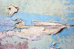 Gammal sprucken målarfärgbetongväggtextur Fotografering för Bildbyråer