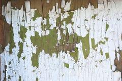 Gammal sprucken och skadad målarfärgmodell arkivbilder