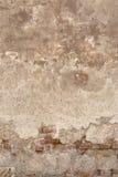 Gammal sprucken vägg Arkivbild