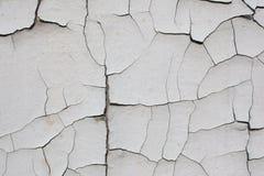Gammal sprucken vit vägg Arkivbilder