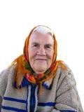gammal stående för farmor arkivfoton
