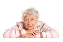 gammal ståendekvinna Royaltyfri Bild
