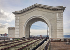 Gammal stångfärjaterminal i San Francsico Royaltyfri Fotografi