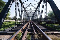 Gammal stångvägbro Royaltyfri Fotografi