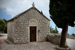 Gammal St Nicholas kyrka på Marjan, splittring, Kroatien Royaltyfri Bild