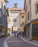 Gammal stad Annecy Arkivbild