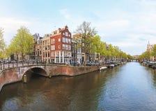Gammal stad av Amsterdam Royaltyfri Bild