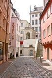 Gammal stad av Augsburg, Tyskland Arkivfoton