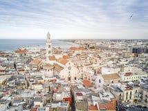 Gammal stad av Bari, Puglia, Italien Arkivfoton