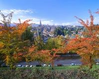 Gammal stad av Berne i höst Royaltyfria Bilder
