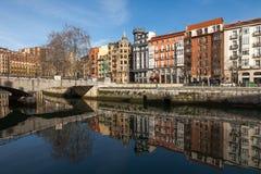 Gammal stad av Bilbao Royaltyfri Fotografi