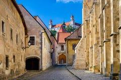 Gammal stad av Bratislava, Slovakien Arkivfoto