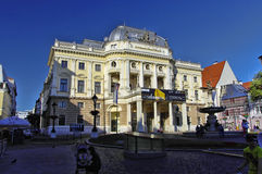 Gammal stad av Bratyslava, slovakisk republik Arkivfoton