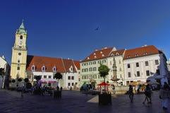 Gammal stad av Bratyslava, slovakisk republik Arkivbilder