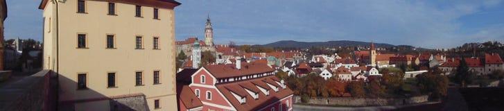 Gammal stad av Cesky Krumlov Royaltyfria Bilder