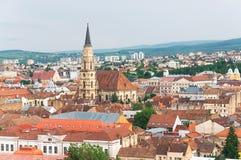 Gammal stad av Cluj-Napoca, Transylvania, Rumänien Arkivbild